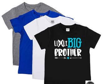 Big Brother Shirts - Promoted to Big Brother Shirt - Little Brother Crossed Out - New Big Brother - Announcement - Sister - Big Bro to Be
