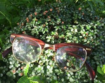 Vintage Mens Eye Glasses, Shuron Eye Glasses, Shuron Mens Eye Glasses, Mens Vintage Eyeglasses, Rockabilly Glasses, Retro Eyeglasses, Shuron