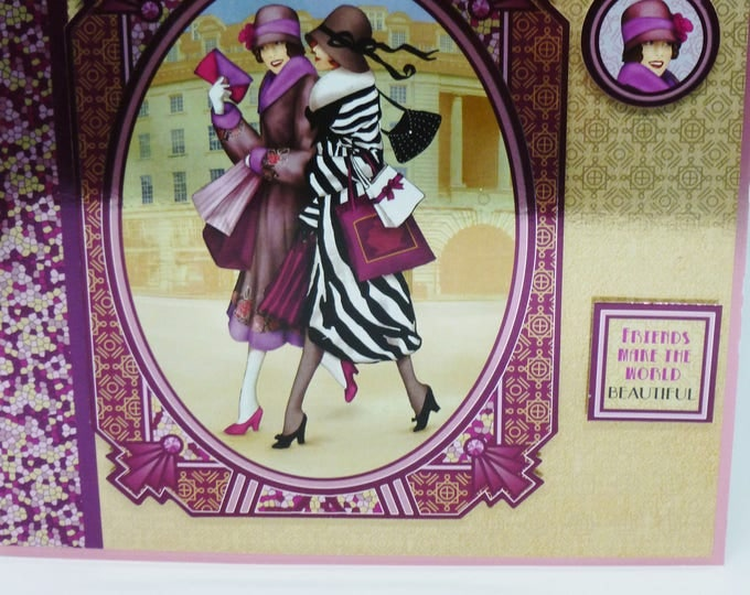Art Deco Greeting Card, Birthday Card, Two Ladies About Town, Fashionable Ladies, Female, Any Age, Mum, Sister, Daughter, Aunt