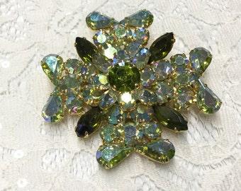 Vintage AB Olivene Sparkling Maltese Cross Brooch