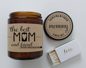 Mom Gifts from Daughter Mothers Day Gift for Mom The Best Mom Gift for Mother Birthday Gift Mothers Day Card Candle Gift for Her Soy Candle