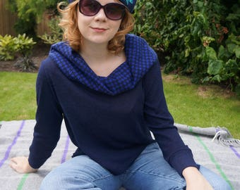Women's cowl neck top