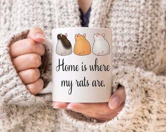 Rat mug, rat owner, rat lover gift, pet rats, pet rat, rat lover, gift for rat lover, gift for rat owner, rat owner present, rat decoration