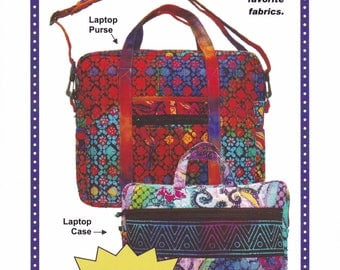 Free Us Ship Craft Patterns by Annie Laptop Computer Planner Carriers Messenger bags Organizer  Pockets Like new! 2014
