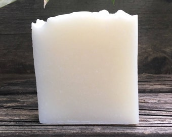 Unscented Soap, All Natural Soap, Coconut Oil Soap, Coconut Milk Soap, Uncolored Soap, Vegan Soap