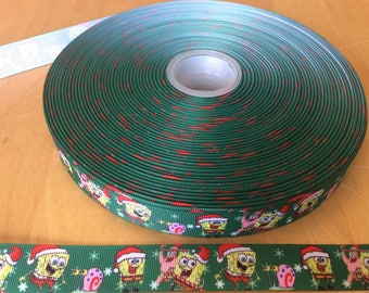 Children's character ribbons, christmas ribbons, 7/8 inch Grosgrain ribbon, perfect for hairbows, scrapbooking and more!