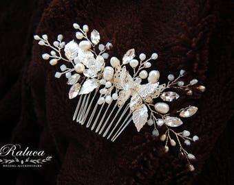 Wedding Headpiece Bridal Jewelry Bridal Hairpiece Wedding Jewelry Bridal Hair Comb Wedding Hair Comb Bridal Headpiece Hair Accessories Comb