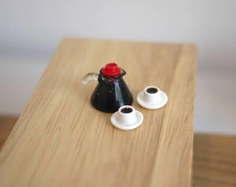 Dollhouse Miniature Coffee Pot Set-3pcs