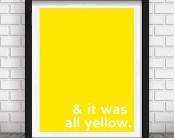 Yellow Coldplay Lyrics Print PDF/JPG - Download - Digital - Printable