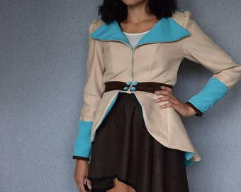 Pokemon Inspired Dress Jacket - Squirtle - Size X-Small/Small