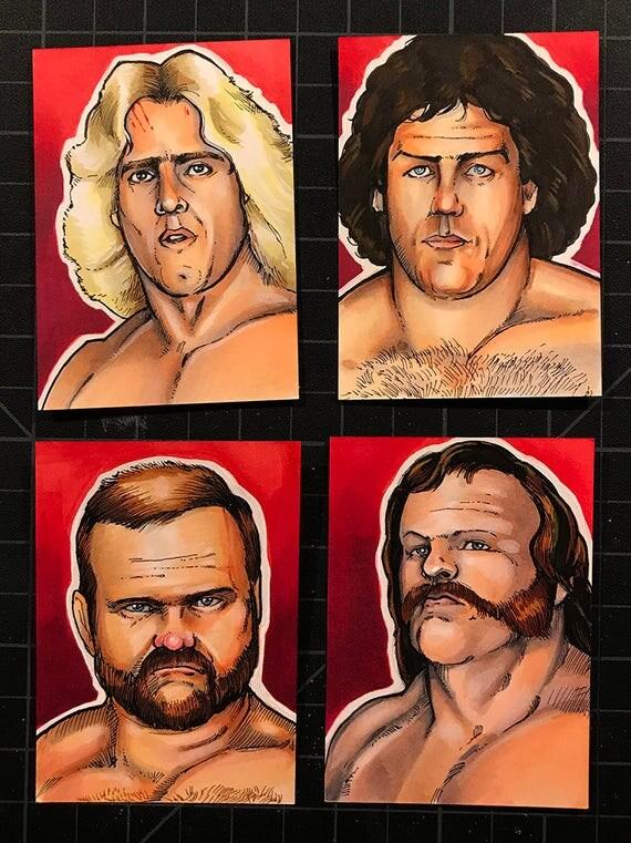 Sketch Card Set: Ric Flair and the 4 horsemen