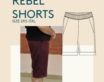 Mens shorts PDF sewing patterns|men's digital pdf shorts pattern|mens digital shorts PDF pattern for sewing| PDF sewing pattern tutorial