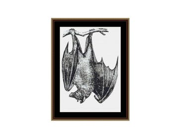 Fruit Bat Counted Cross Stitch Pattern / Chart, Instant Digital Download, Flying Fox, Megabat  (AP127)