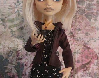 Rose Mclver ( Zombie ) OOAK art doll