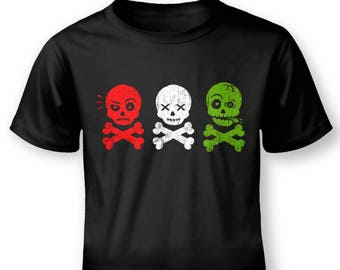 Skull And Bones In A Row baby t-shirt