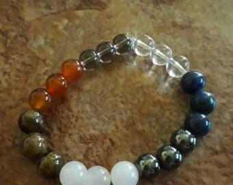 Natural stone 7 Chakras bracelet