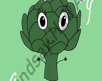Artichoke Food Pun Digital Print