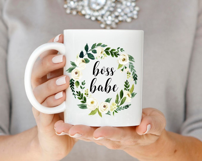 Boss Babe Mug, Gift for Boss, Boss Babe Coffee Mug, Coworker Gift, Christmas Gift, Best Friend Gift, Graduation Gift, Promotion Gift