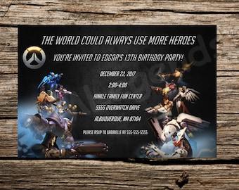 Overwatch Birthday Party, Overwatch Birthday Invitation, Overwatch Invitation, Overwatch Party, Overwatch Invite