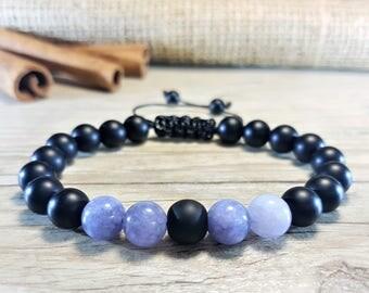 Black Onyx Bracelet, Aquamarine Bracelet, 21 Mala Bracelet, Prayer Beads, Men Bead Bracelet, Men Mala Bracelet, Energy Bracelet, Men Yoga