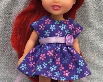 "Dress to fit 6"" Disney Toddler Princess doll"