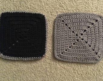 Set of 2 Crocheted Pot Holders