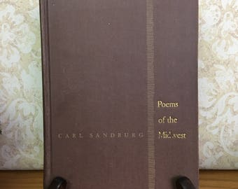 """Carl Sandburg, """"Poems of the Midwest,"""" First Edition, 1946"""