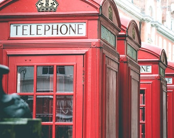 Red Phone Booth Print - Red Telephone Booth, London Print, London Print - London Photography Print