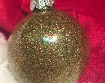 Gold,Ruby,Emerald Glitter Ornament