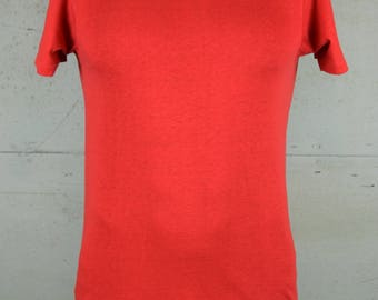 1970's Vintage tee shirt Kings Road / Red / Soft and Thin / Sears Men's Store / Plain, Blank / Fits like a long Small