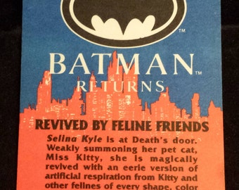 "Vintage 1992 Topps Batman Returns Trading Card, ""Revived By Feline Friends"" #31"