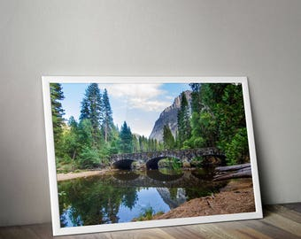 Yosemite, Lake, Bridge, National Park, Yosemite Print, Mountains, Nature Photography, Yosemite Photography, Travel Photography, Nature
