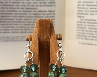 Green Swarovski Earrings