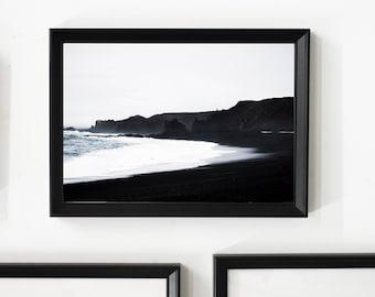 Black Sand Beach/ Home Decor/ Gift/ Travel /Print / Wall Art / Unique/ Adventure/ Wanderlust / Digital /Fine Art/ Europe/ Iceland