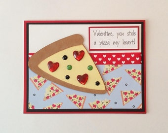 Pizza Valentine Card You Stole A Pizza My Heart Pizza Card Valentine Card   Pizza  Valentine
