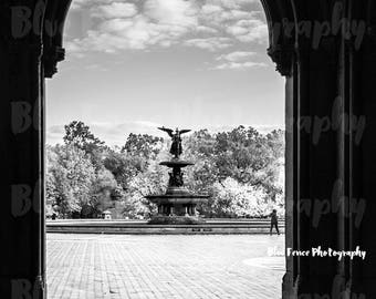 Central Park Photography, Bethesda Fountain, Archway, Black and White, New York, NYC, Art Print, Home, Wall Decor, Street Photography