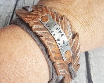 Wrap Bracelet, Leather Wrap Bracelet, Boho Wrap Bracelet, Leather Bracelet, Boho Bracelet, Feather Bracelet, Infinity Bracelet, Womens Gift