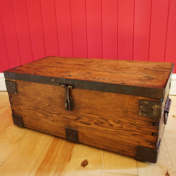 Vintage Industrial Chest Table TV Stand
