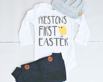 Baby first easter etsy babys first easter outfit personalized newborn baby gifts boy 1st easter cute baby negle Image collections