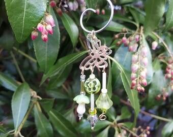 Lime Green Butterfly Garden Fairy Wind Chime - Fairy Garden Accessory WC-24