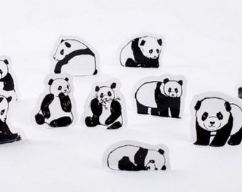 Cute panda stickers, Planner stickers