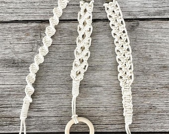 Macramé dummy saver | Pacifier clip | Teething ring | Baby shower | Newborn | Boho baby | Baby gift | Nursery | Macramé