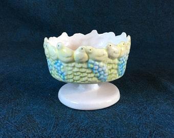 Vintage Easter Chick Pillar Candleholder