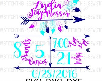 Birth svg, Announcement svg, Boy birth svg, Girl birth svg, Birth Stats svg, Birth statistic, New baby svg, Newborn svg, Birth date svg