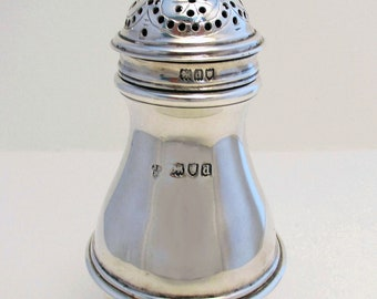 ANTIQUE Victorian (1899) Solid Sterling Silver Pepper Pot Jar Bottle Shaker Caster Sugar Sifter. Late 19th-century