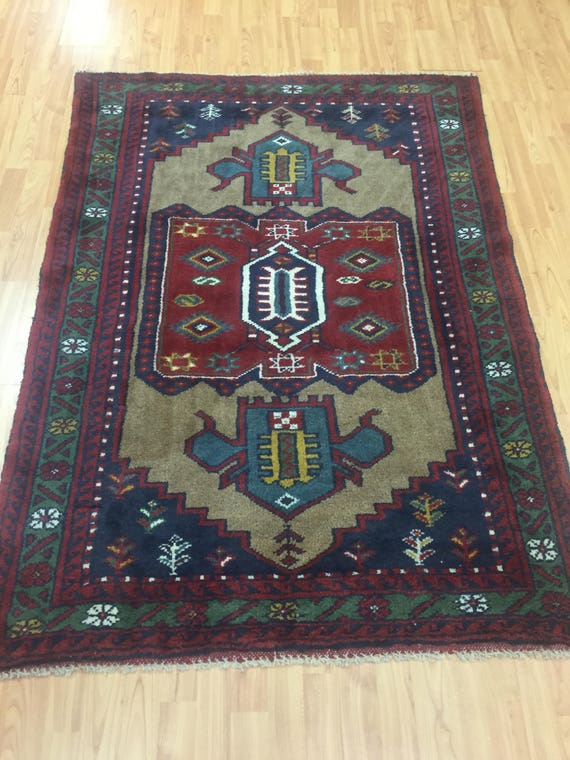 "3'9"" x 5'5"" Persian Shiraz Oriental Rug - Hand Made - 100% Wool - Full Pile"