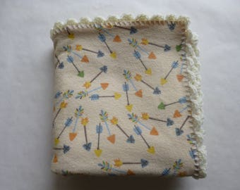 Double Sided Flannel Baby Receiving Blanket