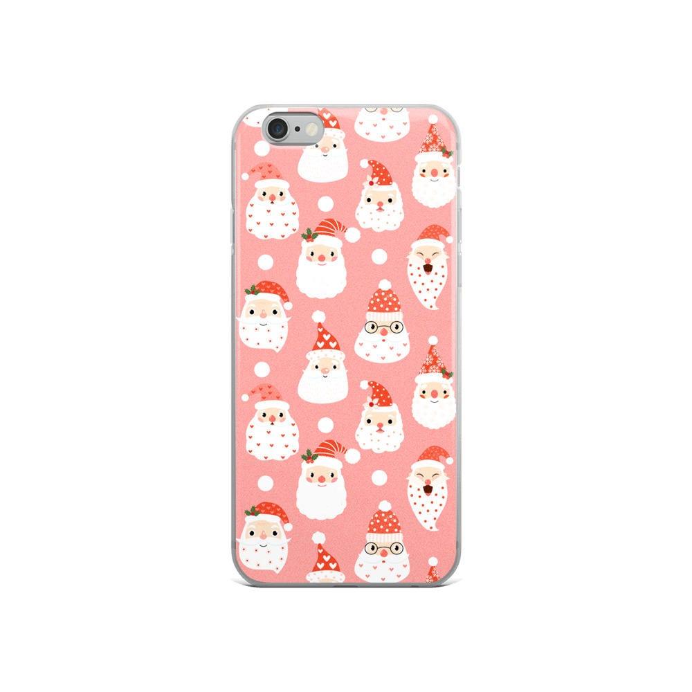 Cute Santa iPhone 7 Plus case, Christmas iPhone 5 5s Se case ...