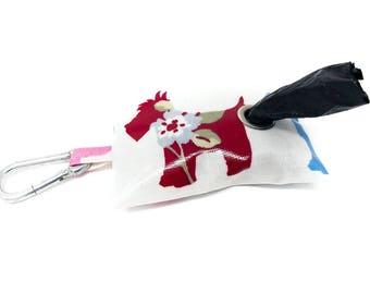 Scottie Poo Bag Holder - Poo Bag Holder - Pink Poo Bag Holder - Scottie Dog - Poop Bag Holder - Dog Poo Bag Dispenser - Scottie Dog Poo Bag