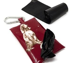 Irish Setter Poop Bag Holder – Dog Poop Bag Holder – Dog Waste Bag – Poop Bag Dispenser – Poop Bag – Dog Lover Gift – Leash Bag - Dog Owner